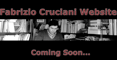 Fabrizio Cruciani Website - Coming Soon...